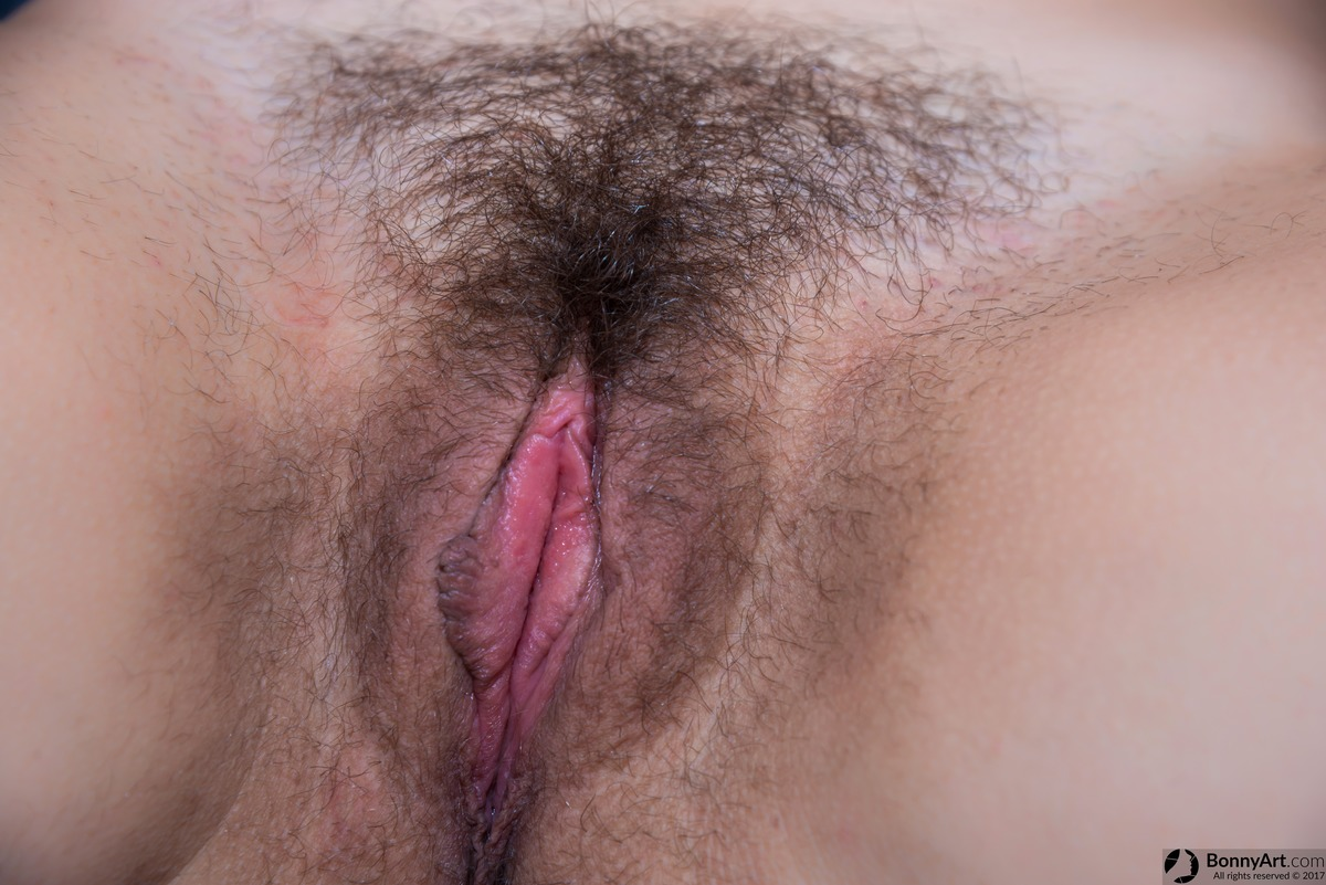 Unshaven Hairy Juicy Pussy Close-Up