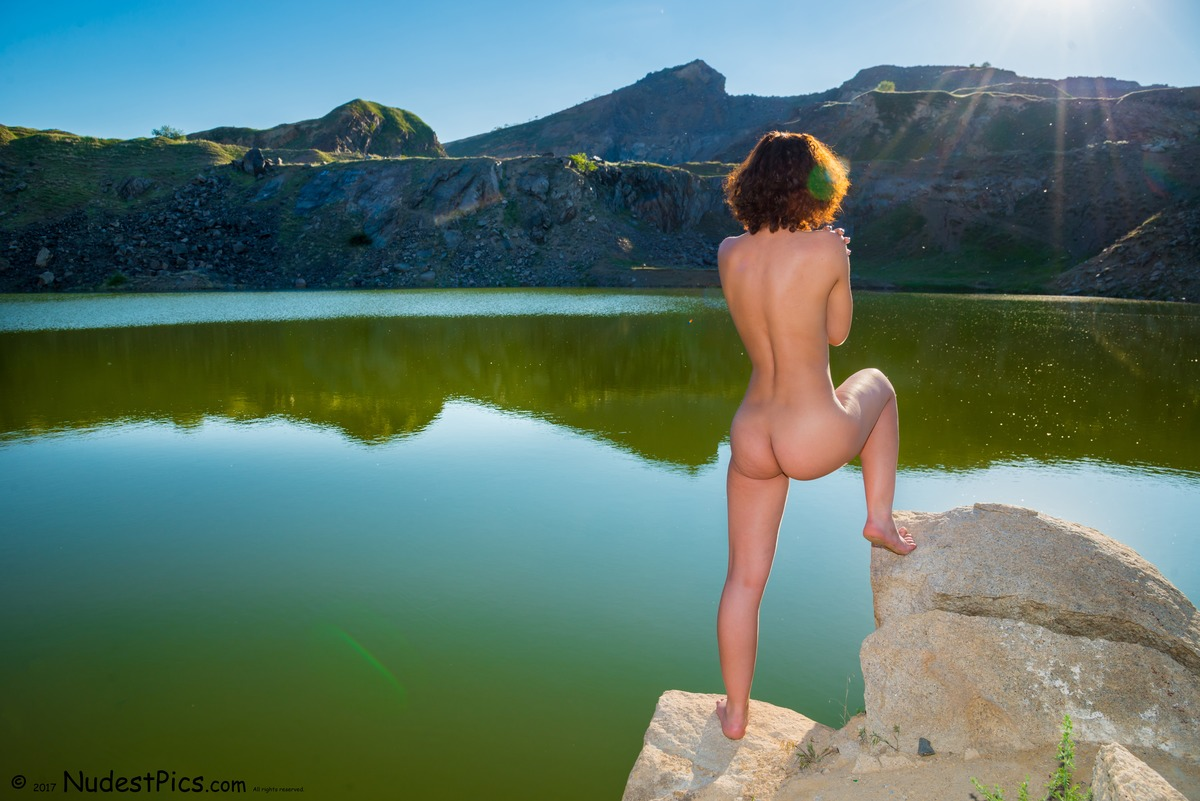Naturist Girl at the Green Lake